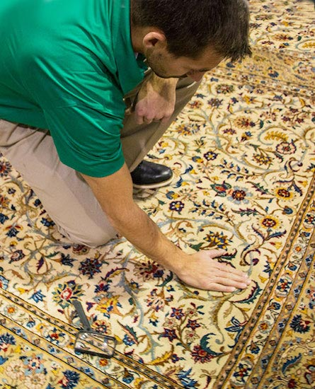Westcoast Chem-Dry Technician Providing Area Rug Cleaning In Surrey